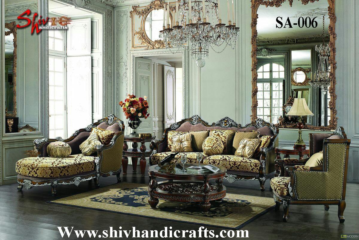 Carving wooden sofa set