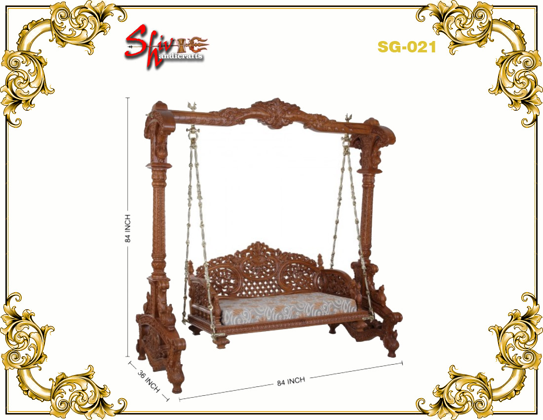 Wooden Two Seater Swing for Home